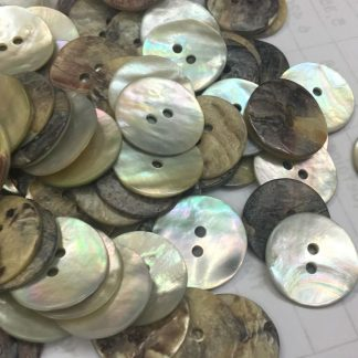 Thick Natural Agoya Shell Buttons after production