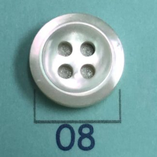 Bevel Shaped 3mm Thickness 18L White MOP Shirt Buttons