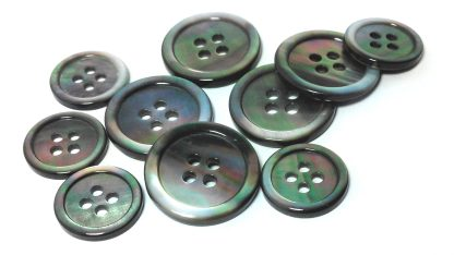 Smoke Mother of Pearl Suit Buttons