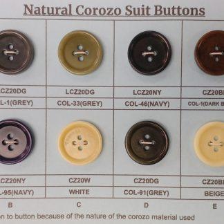 Corozo Suit Buttons