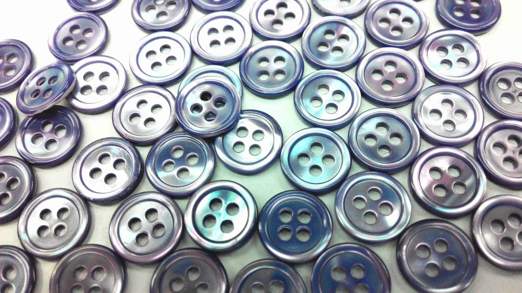 dyed medium purple pearl shirt buttons