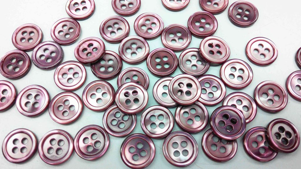dyed purple pearl shirt buttons