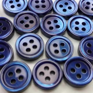 navy blue pearl shirt buttons