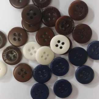 Corozo Buttons - mixed colors