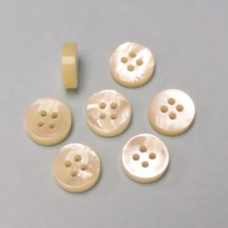 concave top rounded back mop pearl buttons