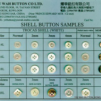 Shell button samples card